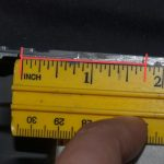 measure from edge to left