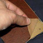 peel leather off back door